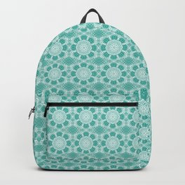 Project 503  |  White Lace on Teal Green Backpack