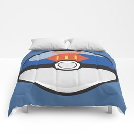 Blue Lure Pokeball Comforters