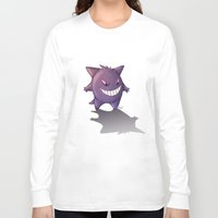 gengar Long Sleeve T-shirts featuring Gengar by MaliceZ