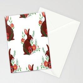 Floral Rabbit Pattern Stationery Cards