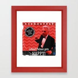 """Leland Palmer Gets Happy (Vintage 12"""" Record Sleeve) Framed Art Print"""