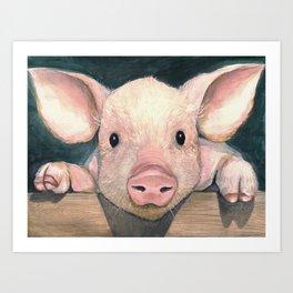 Pig Face Art Print