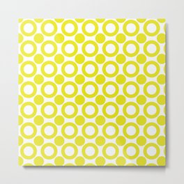 Dot 2 Yellow Metal Print