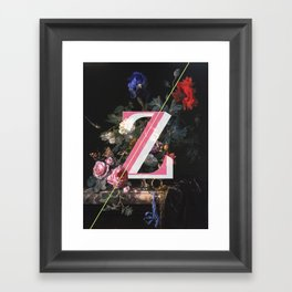 Letter Z Framed Art Print