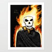Ghost Rider, Spirit of Vengeance  Art Print