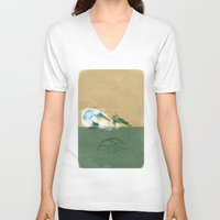 airbender V-neck T-shirts featuring Avatar Korra by daniel
