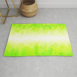 Neon Lemon Lime Abstract Rug