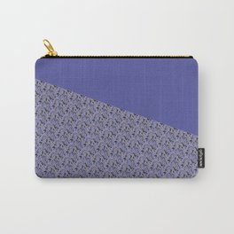 Purple Daisy pattern Carry-All Pouch