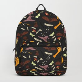 Halloween Pattern with Grey Background Backpack