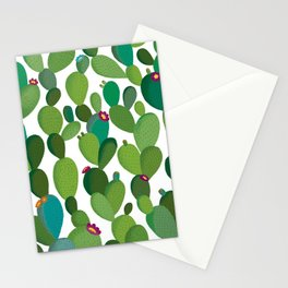 Cactus with flowers Stationery Cards