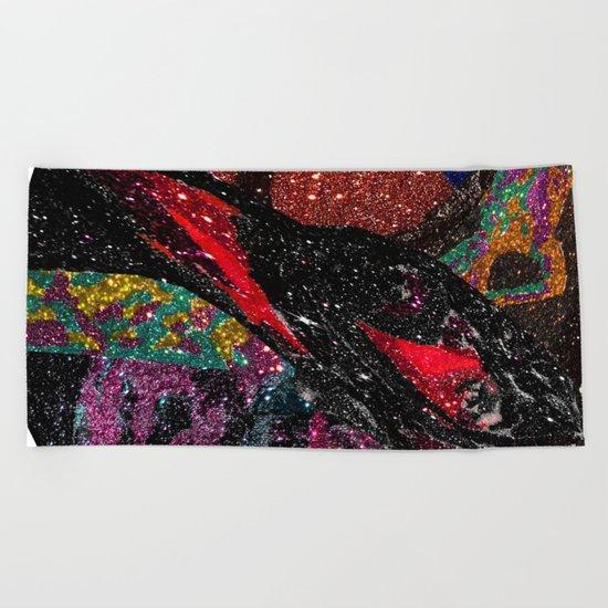 Space Hair Beach Towel