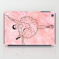 ballet iPad Cases featuring Ballet  (Ballet dancer in arabesque wearing a tutu) by Janin Wise