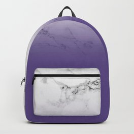 Modern white marble ultra violet purple ombre gradient Backpack