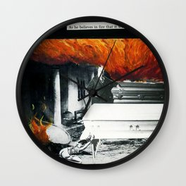 Total Post Mortum Immolation (funeral metal 3) Wall Clock