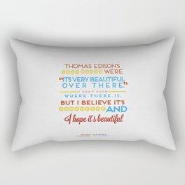 I Believe It's Somewhere Rectangular Pillow