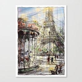 Paris IX in colour Canvas Print