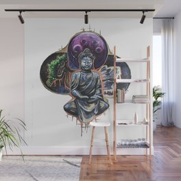 Peaceful Drum Buddah Wall Mural