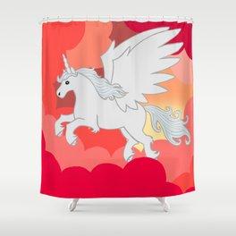 Alicorn at Sunset Shower Curtain