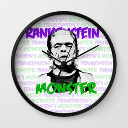 Frankenstein's Monster Colour Wall Clock