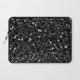Chess Pattern BLACK Laptop Sleeve
