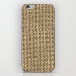 Natural Woven Beige Burlap Sack Cloth iPhone Skin