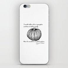 Thoreau's Pumpkin iPhone Skin