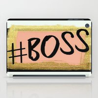 boss iPad Cases featuring #boss by Pink Berry Patterns
