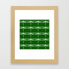 Green Dragonflies Framed Art Print