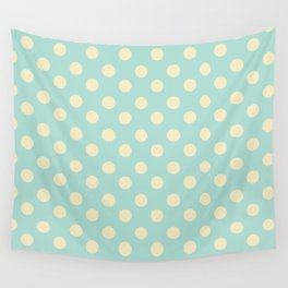 Dotted - Soft Blue Wall Tapestry