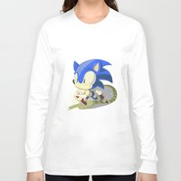 sonic Long Sleeve T-shirts featuring Sonic by Rod Perich