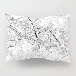 Florence White Map Pillow Sham