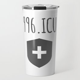 996.ICU Working Hours Awareness Travel Mug