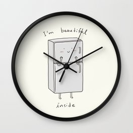 I'm Beautiful Inside Wall Clock