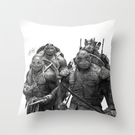 Green Teenage Heroes Throw Pillow
