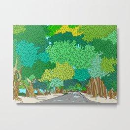 Banyan Tree Driveway Metal Print