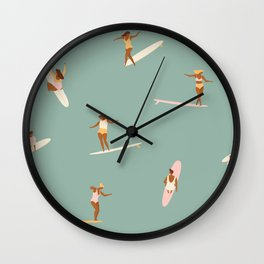 Surf sistas Wall Clock