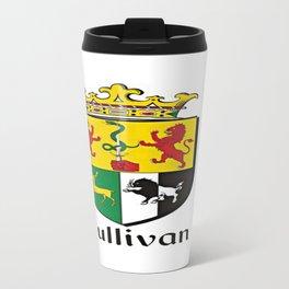 Family Crest - Sullivan - Coat of Arms Travel Mug