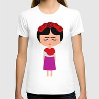 frida kahlo T-shirts featuring Frida Kahlo by Creo tu mundo