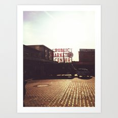 Pike Place Market @ Seattle, Washington Art Print