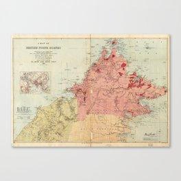 Map of British North Borneo (1899) Canvas Print