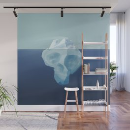 Dying iceberg, the terrible effects of climate change Wall Mural