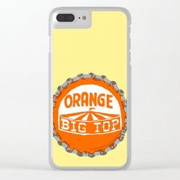 Orange big top bottle cap lefty Clear iPhone Case