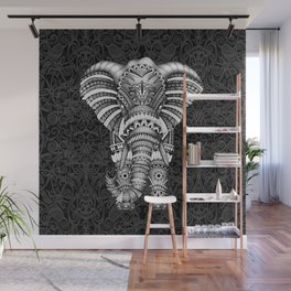 elephant with aztec pattern Wall Mural