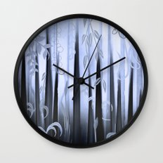 Blue Forest Abstract Wall Clock