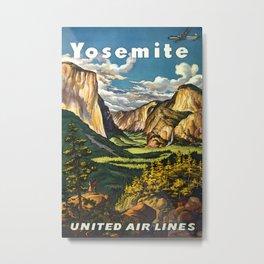 Yosemite Travel Poster Metal Print