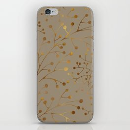 Tan & Gold Brunches Seamless Pattern iPhone Skin