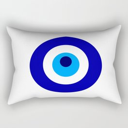 Turkish amulet called Nazar which means sight, surveillance, attention used as a sign of protection Rectangular Pillow