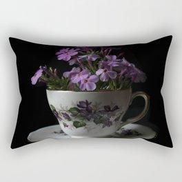 Botanical Tea Cup Rectangular Pillow