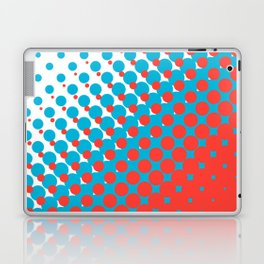 Blue and red halftone pattern Laptop & iPad Skin