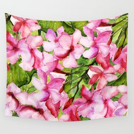 Aloha-my tropical pink oleander flower garden Wall Tapestry